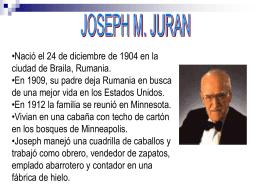 3 Juran - DiploGestionCalidad