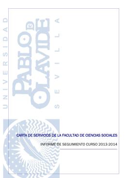carta de servicios de la facultad de ciencias sociales informe de