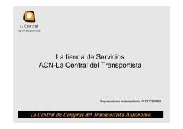 La tienda de Servicios ACN-La Central del Transportista