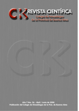 Revista Kinesiologos 26 - Colegio de Kinesiólogos de la Provincia