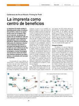 La imprenta como centro de beneficios - WAN-IFRA