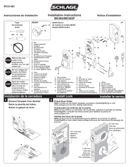 Installation Instructions Fa360 Fa362 Fa393 on schlage door s