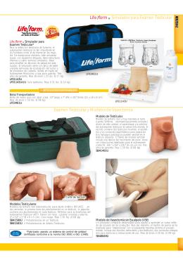 Examen Testicular y Modelos de Vasectomía Life /form ® Simulador