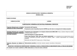 Cuadro de síntesis - Consejo Federal de Medio Ambiente