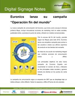 """Euronics lanza su campaña """"Operación fin del mundo"""""""