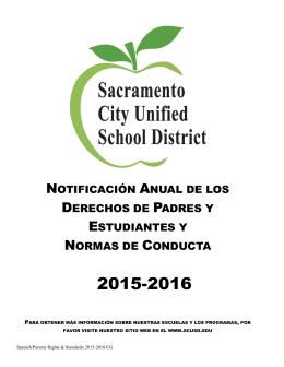 Bienvenidos al Año Escolar 2015-2016