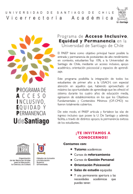 folleto paiep - Universidad de Santiago