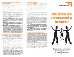 Política de Protección Infantil