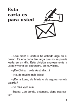 Esta carta es para usted