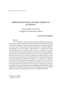 DERECHOS HUMANOS: MUJERES INDÍGENAS, EN MÉXICO