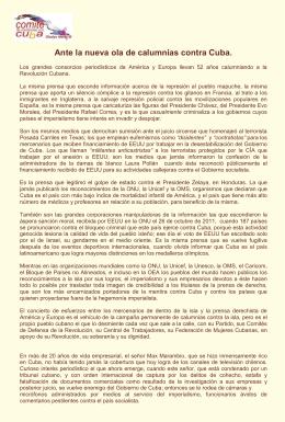 DECLARACIÓN, Ante la nueva ola de calumnias contra Cuba.