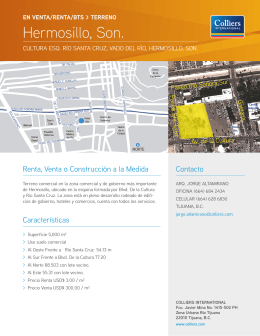 Hermosillo, Son. - Colliers International