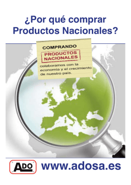 folleto productos nacionales ado