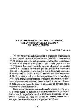LA INDEPENDENCIA DEL ISTMO DE PANAMA, SUS