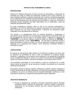 PROYECTO DEL PENSAMIENTO LÓGICO