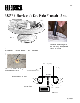 5585F2 Hurricane`s Eye Patio Fountain, 2 pc.