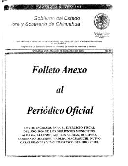 Folleto Anexo Periódico Oficial