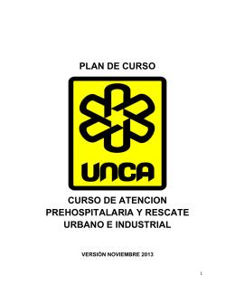 plan de curso curso de atencion prehospitalaria y rescate urbano e