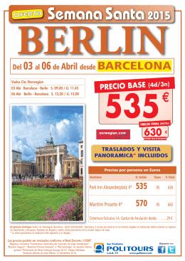 Berlin - Mediterraneo Holidays