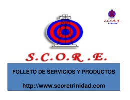 SCORE Overview 2008 SPANISH