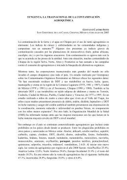 SYNGENTA, LA TRASNACIONAL DE LA CONTAMINACIÓN