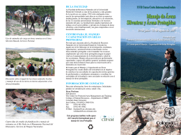 Manejo de Áreas Silvestres y Áreas Protegidas