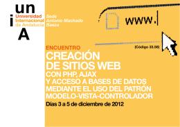 CREACIÓN DE SITIOS WEB - Universidad de Huelva
