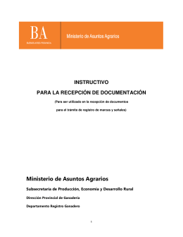 Instructivo para Recepción de Documentación