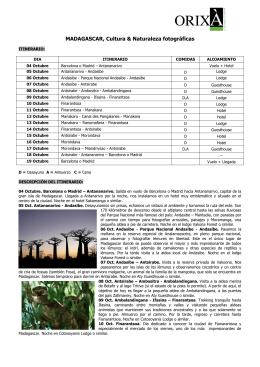 MADAGASCAR, Cultura & Naturaleza fotográficas