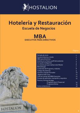 Folleto Hostalion MBA profesionales