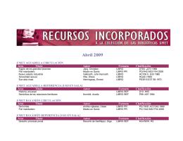 Abril 2009 - Sistema Universitario Ana G. Méndez