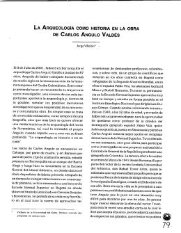 La arqueología como historia en la obra de carlos angulo valdés