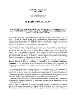 boletín informativo - Zaibert & Asociados
