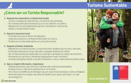 Turismo Sustentable ¿Cómo ser un Turista Responsable?