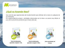 ¿Qué es Aramón Box?