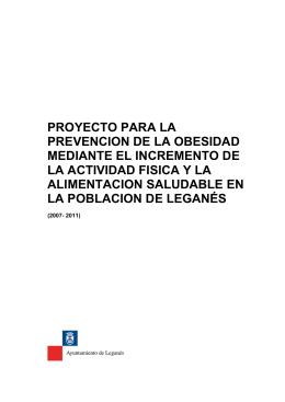 proyecto para la prevencion de la obesidad mediante el incremento
