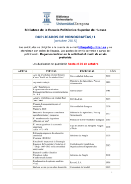 DUPLICADOS DE MONOGRAFÍAS/1 - Biblioteca de la Universidad