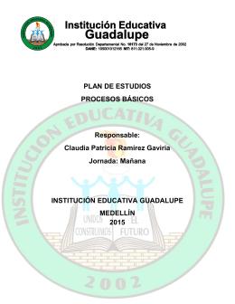 PLAN DE ESTUDIOS PROCESOS BÁSICOS Responsable: Claudia
