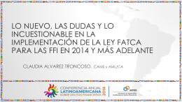 Presentación de Claudia Álvarez