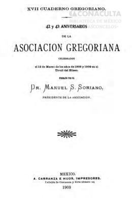 ASOCIACION GREGORIANA - Dirección General de Bibliotecas