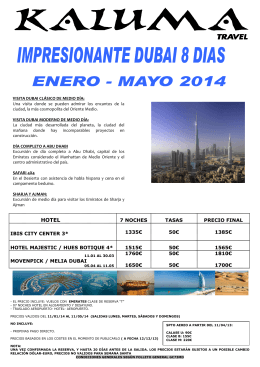 IMPRESIONANTE DUBAI 8 DIAS