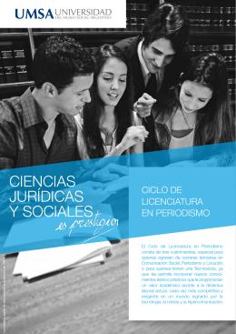 CIENCIAS JURÍDICAS Y SOCIALES