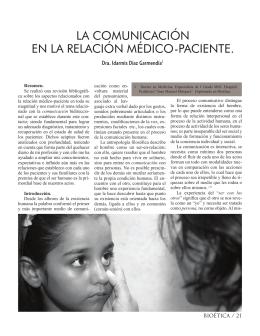 LA COMuNICACIóN EN LA RELACIóN MédICO