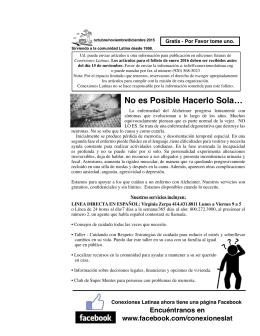octubre 15 - Conexiones Latinas