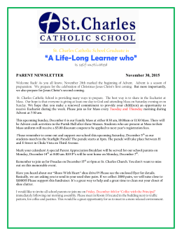 Parent Newsletter Oct. 26th, 2015