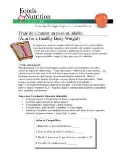 Trate de alcanzar un peso saludable (Aim for a Healthy Body Weight)