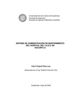 sistema de administración de mantenimiento del