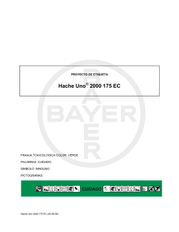 Hache Uno 2000 175 EC - Bayer CropScience Chile