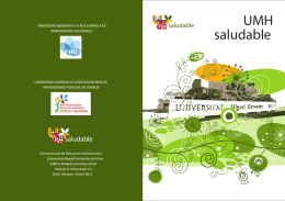 Folleto UMH Saludable - Universidad Miguel Hernández de Elche