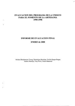 Evaluación del Programa de la UNESCO para el